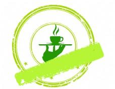 卡通绿色咖啡杯图标矢量元素