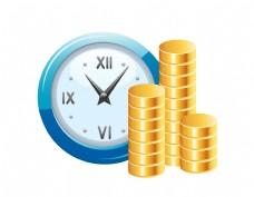 创意时间就是金钱矢量图