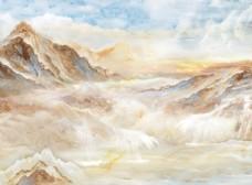 高清山水大理石石材石纹背景墙