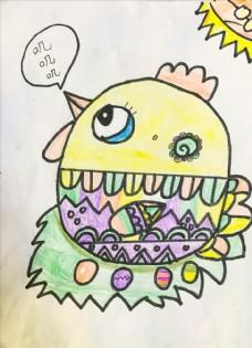 小母鸡下蛋