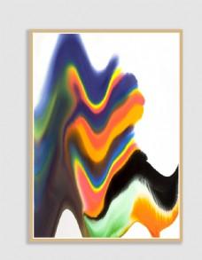 现代中式抽象艺术北欧简约无框画