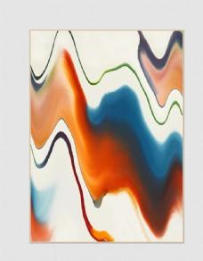现代简约创意抽象色块彩绘装饰画