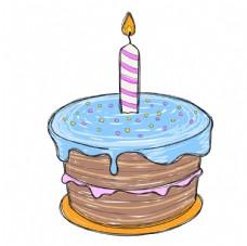 手繪生日蛋糕