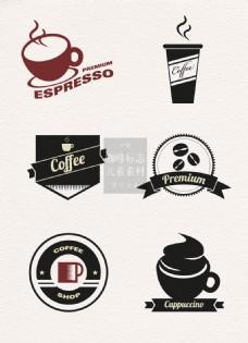 卡通咖啡标志矢量素材
