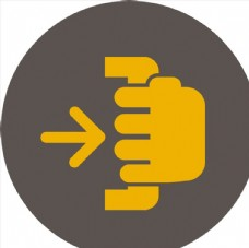 黄色圆形图标