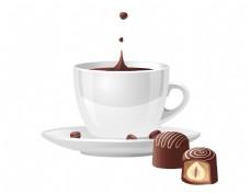 矢量巧克力咖啡元素