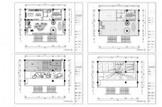 超现代餐厅CAD施工图纸设计