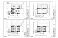 CAD会所接待施工图纸设计