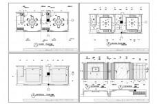 餐饮空间包厢CAD施工图纸
