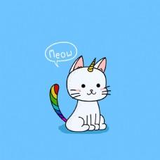 手绘卡通动物画