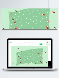 小清新斑点桌布广告背景