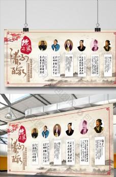 中华传统文化展板