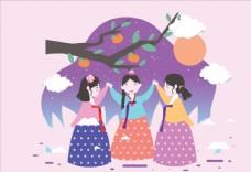 韩国中秋节背景