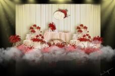 红香槟欧式婚礼甜品区