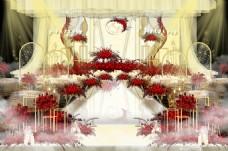 红香槟欧式婚礼仪式区