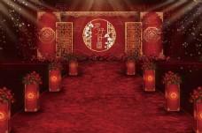 红色中式婚礼效果图.