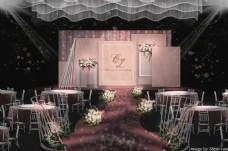 粉色浪漫婚礼工装效果图