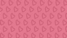 卡通七夕粉色爱心无缝背景素材