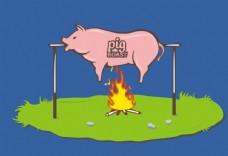 可爱卡通猪猪