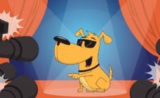 矢量卡通宠物狗