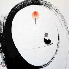 新中式 花鳥禪意 裝飾畫 國畫