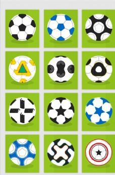 足球花纹矢量素材