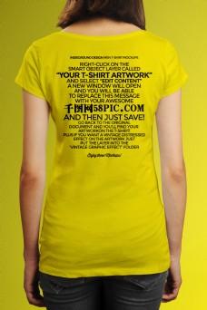 女士Tshirts服饰VI样机素材