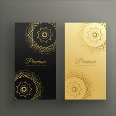 華麗曼荼羅花紋卡片
