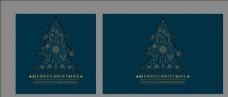 矢量金色线条圣诞树装饰品