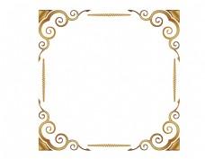 矢量金色花纹边框元素
